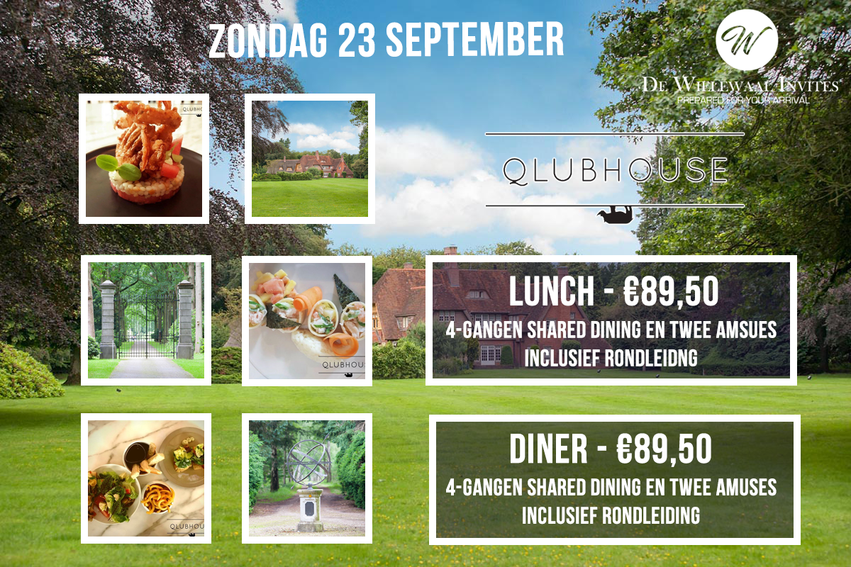 De Wielewaal Invites Qlubhouse dining